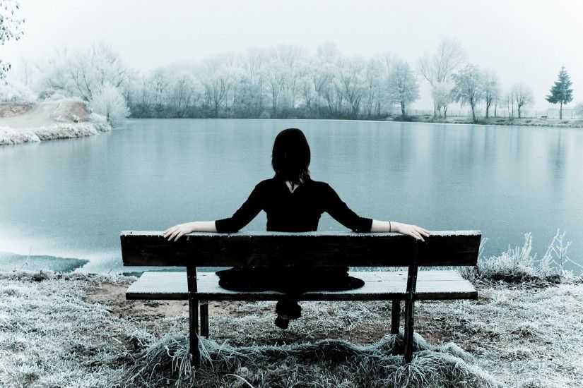 Sad Girl Alone Wallpaper Cool Images #fv620mx1