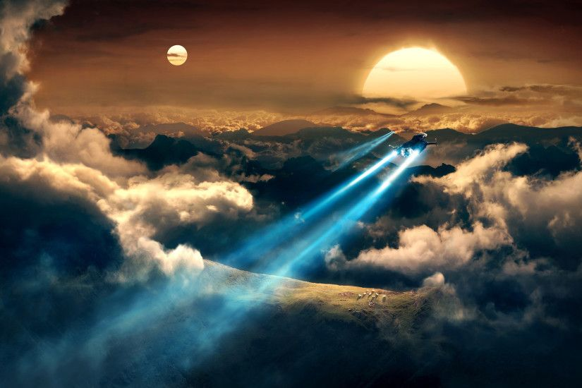 art fantasy planet space trajectory flight train from spaceships spaceship  wallpaper