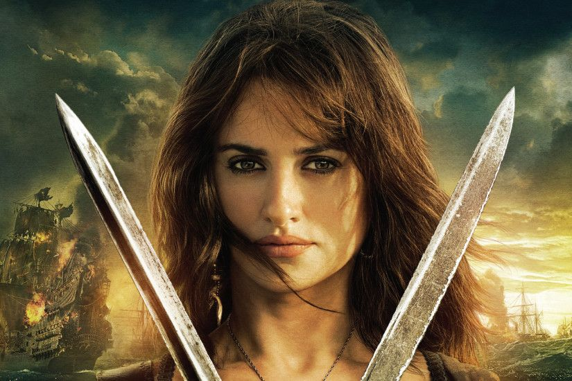 Movie Pirates Of The Caribbean: On Stranger Tides Angelica Teach Penelope  Cruz Wallpaper
