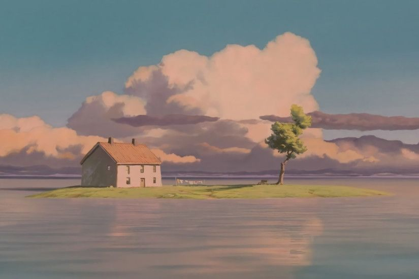 Some HD wallpapers from Spirited Away's train scene. Pure serenity .