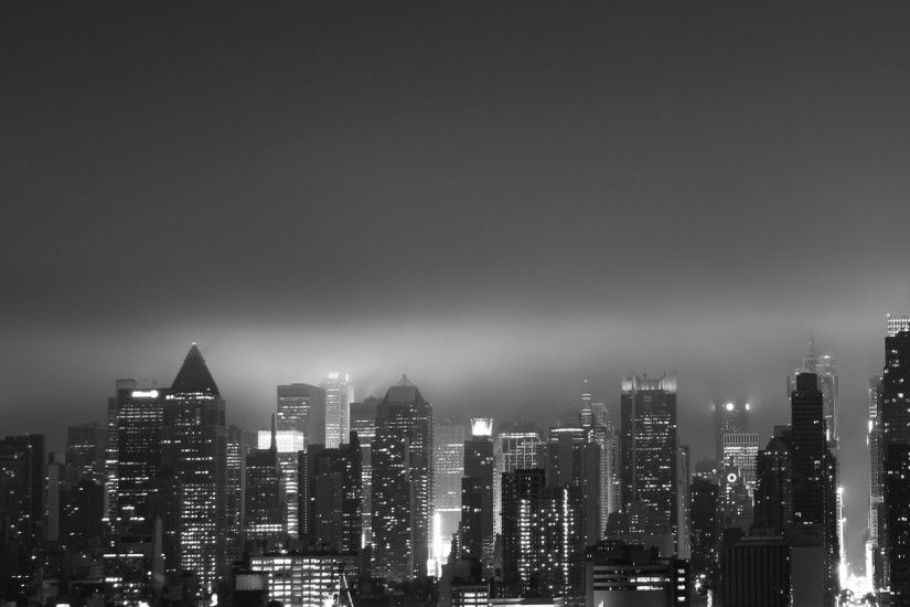 Dark New York - Tap to see more black & white city wallpaper!
