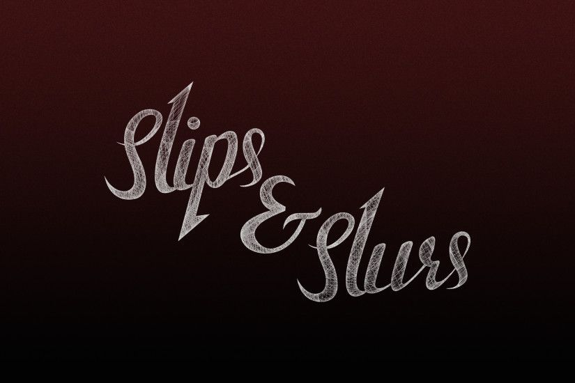 Slips & Slurs logo on red wallpaper
