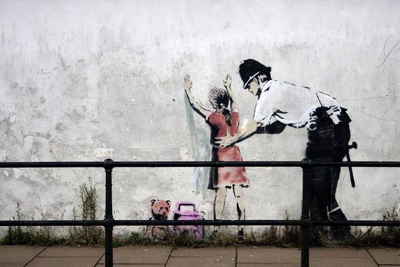 1920x1080 Download Free Banksy Art Bakcground.