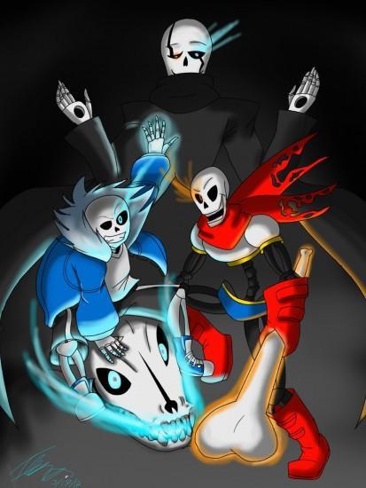 ... Undertale- Sans, Papyrus, and Gaster by Ithiliam
