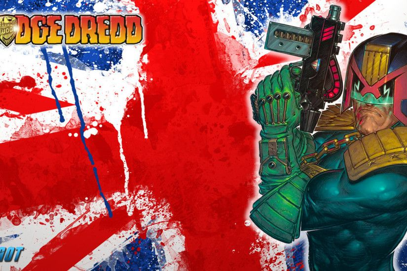 Judge Dredd And The Union Jack Wallpaper