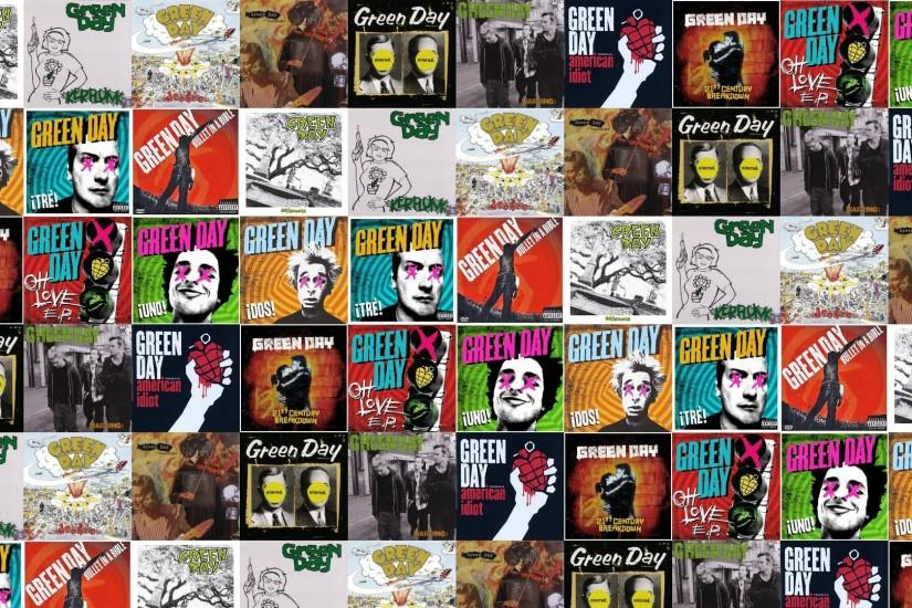 Download this free wallpaper with images of Green Day – 39 Smooth, Green Day  – Kerplunk, Green Day – Dookie, Green Day – Insomniac, Green Day – Nimrod,  ...