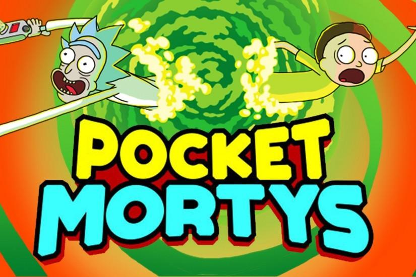 rick and morty pocket mortys photography wallpaper free, 1920x1080 (266 kB)