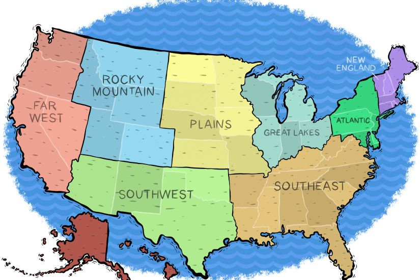 Leading Best us_map-plain HD