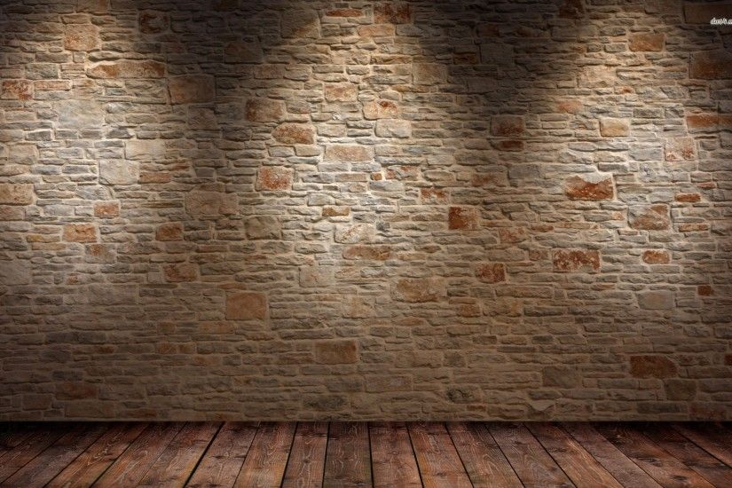 Brick wall and wood floor HD wallpaper #1 | Abstract Desktop Wallpaper