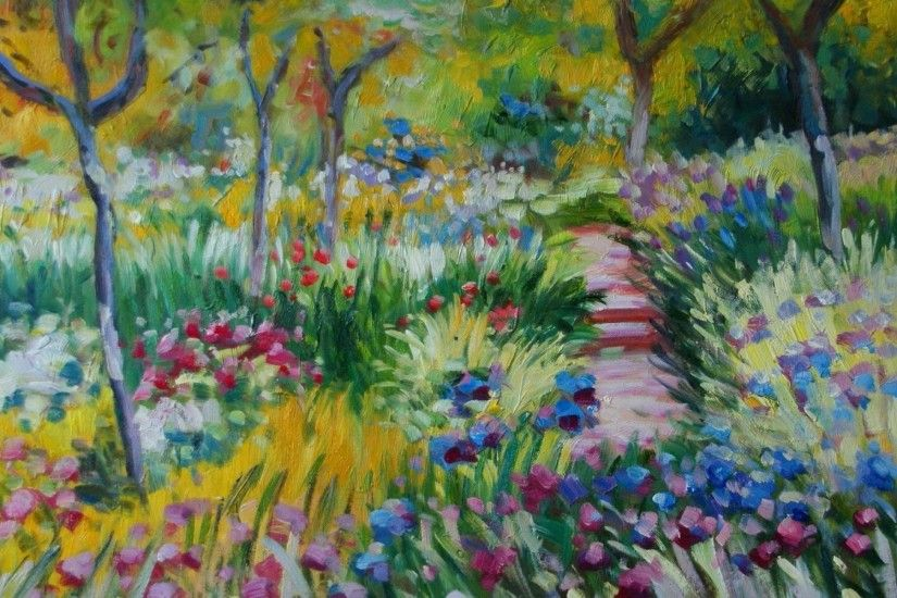 ... Impressionist Backgrounds - WallpaperSafari ...