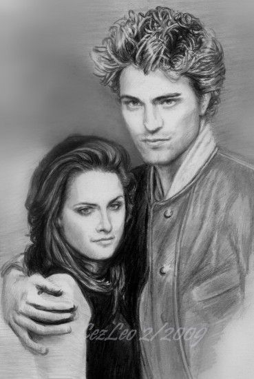 One of My Robert Pattinson and Kristen Stewart Drawings - twilight-movie  Fan Art