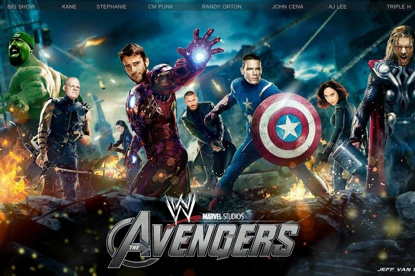 WWE The Avengers Movie Wallpaper