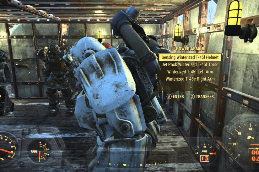 Fallout 4 X-01 Vault-Tec MK III POWER ARMOR Garage Update HD