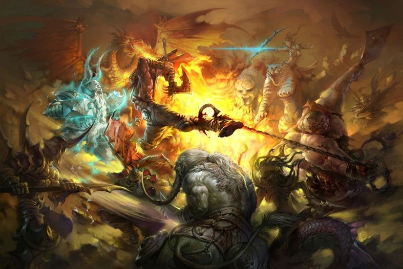 widescreen, tigers,hd abstract wallpapers windows desktop images, fire,  warcraft, iii