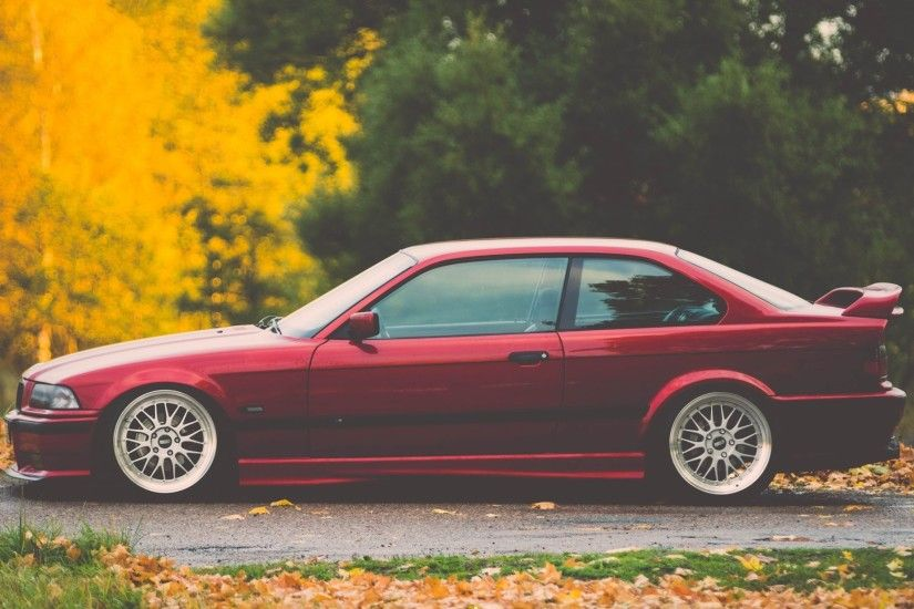 bmw e36 m3 bmw tuning stance red