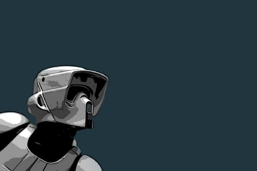 Star Wars Wallpaper 1920x1080 Star, Wars, Minimalistic, Artwork, Scout