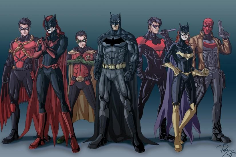 Artwork Batgirl Batman Batwoman Comics Dc Justice League Nightwing Red Hood  Robin Suit Superheroes Wallpaper