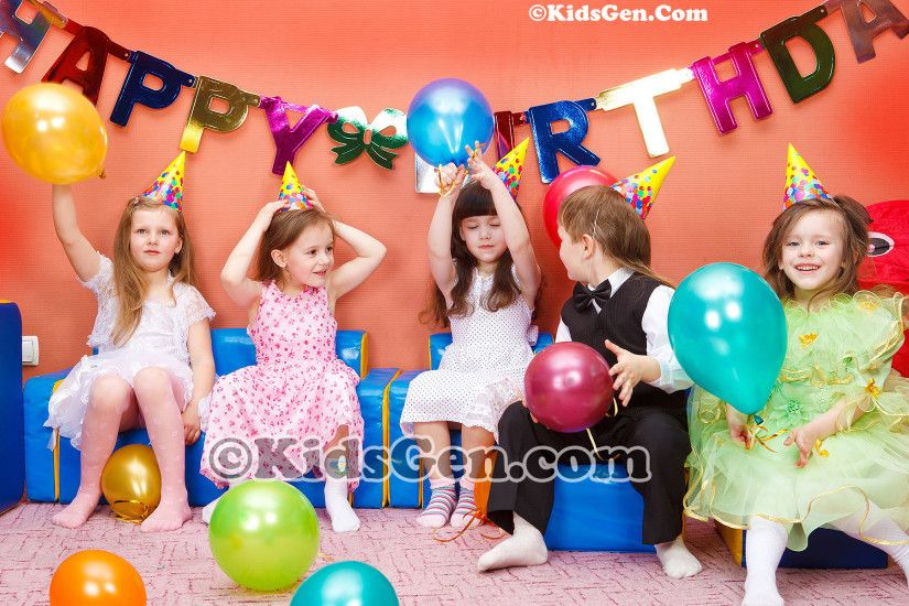 High Definition kids birthday celebration wallpaper
