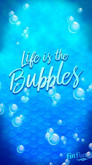 """Life is in the bubbles"" mermaid wallpaper for your phone or tablet.  Download"