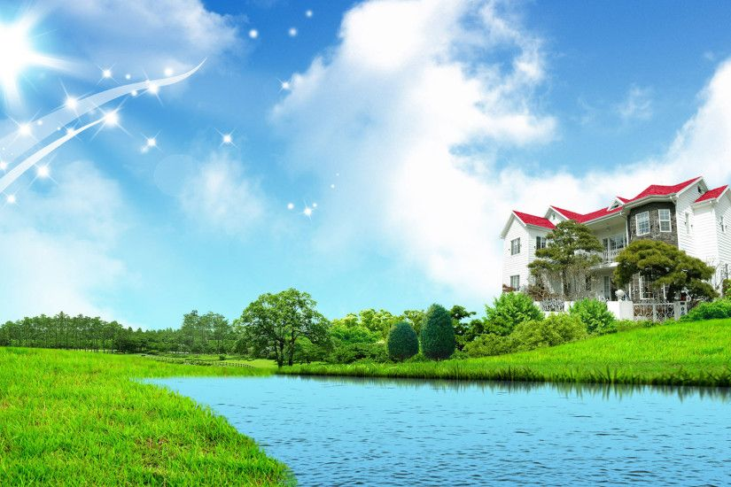 ... Sky With Green Nature Wallpaper 9 Sweet Home Fantasy Wallpapers Hd  1080p 1920x1080 Desktop.