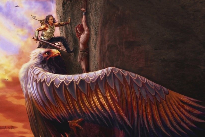 mythology eagle fantasy art Wallpapers HD / Desktop and Mobile Backgrounds