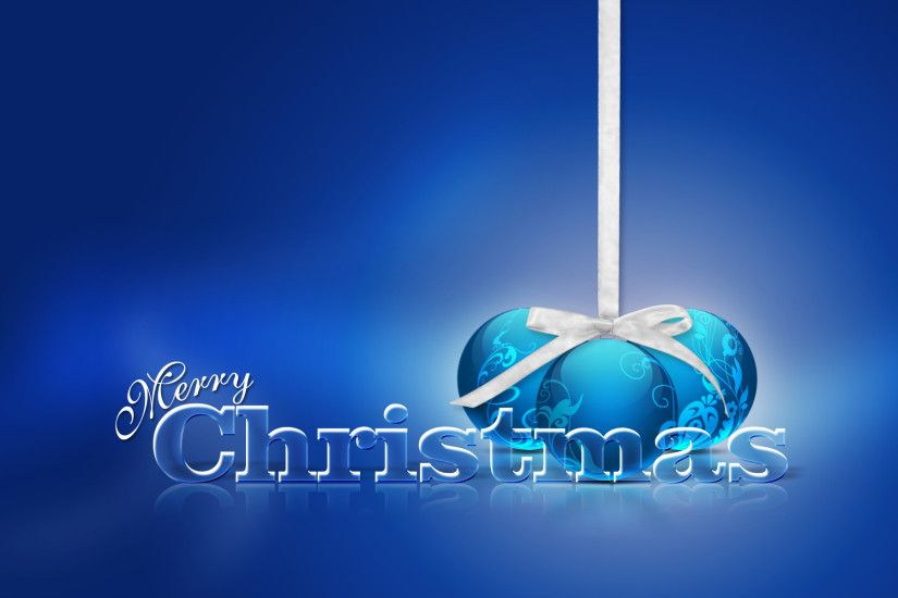 Beautiful Love Blue Merry Christmas Wallpaper High Definition Wallpaper