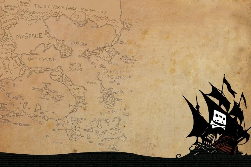 Pirate Ship And Map Picture HD Wallpaper Desktop - Beraplan.