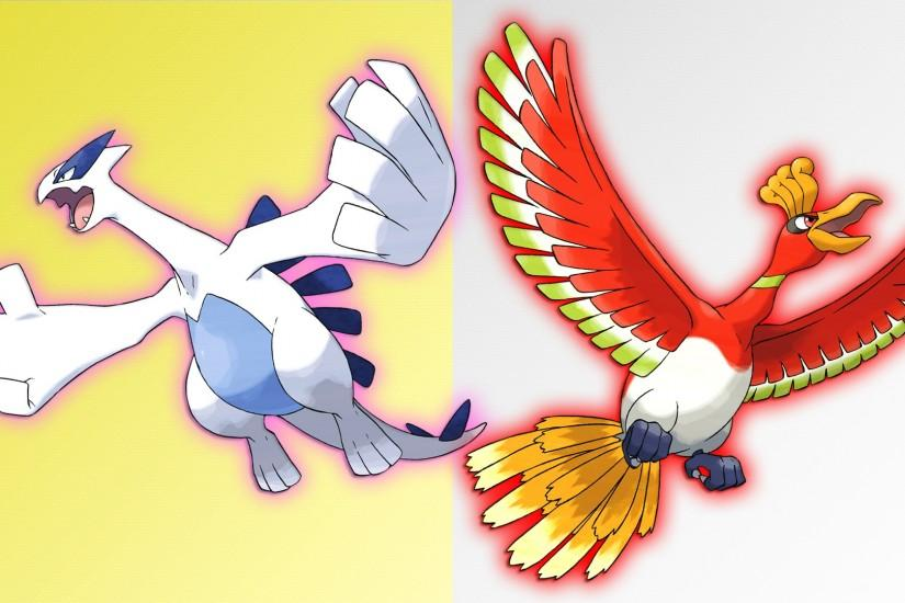 Lugia and Ho-oh Wallpaper by Glench on DeviantArt