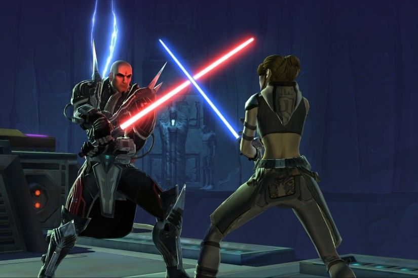 ... SWTOR holonet Wars: The Old Republic Wallpaper Jedi Sith Duel ...