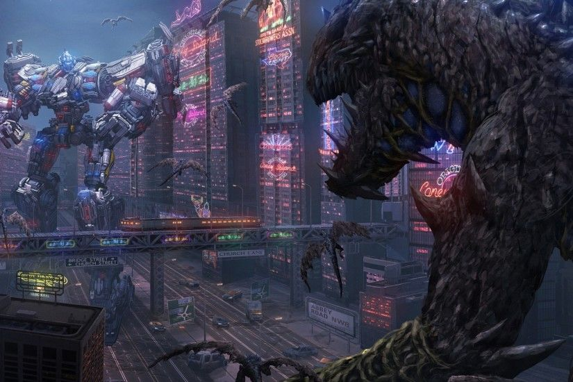 fantasy robot sci fi monster HD backgrounds - desktop wallpapers