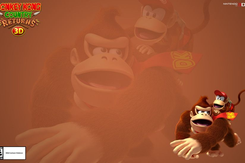 Wallpapers Donkey Kong Country Returns 3D for Nintendo 3DS 1920x1200