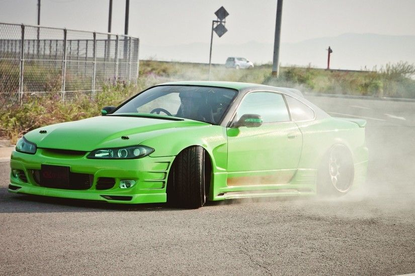 Green cars tuning Nissan Silvia S15 JDM Japanese domestic market wallpaper  | 1920x1080 | 281425 | WallpaperUP