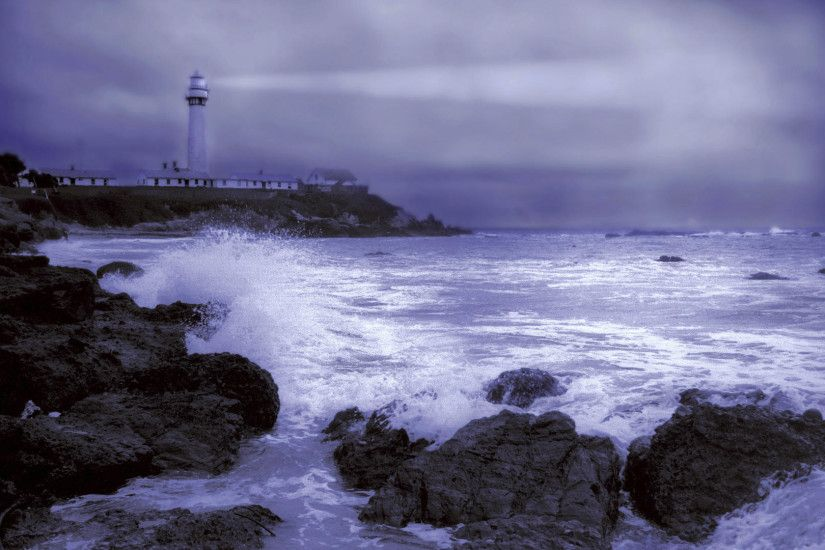 Download Background - Stormy Weather, Pigeon Point Light Station,  California - Free Cool Backgrounds and Wallpapers for your Desktop Or  Laptop.
