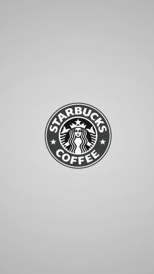 Simple Starbucks Coffee Logo iPhone 8 wallpaper