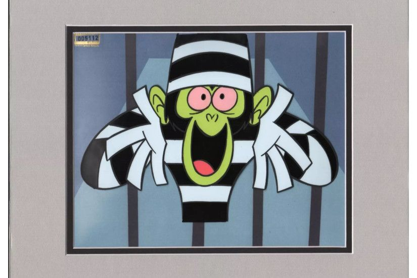 "Cartoon Network Powerpuff Girls Original Production Cel - Mojo Jojo  ""Rowdyrough Boys"" - Humiliated"