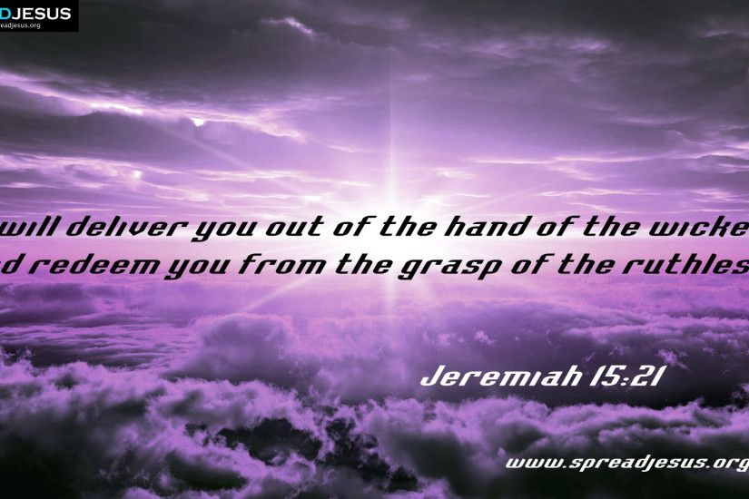 I will deliver you out of the hand of the wicked BIBLE QUOTES HD-WALLPAPERS