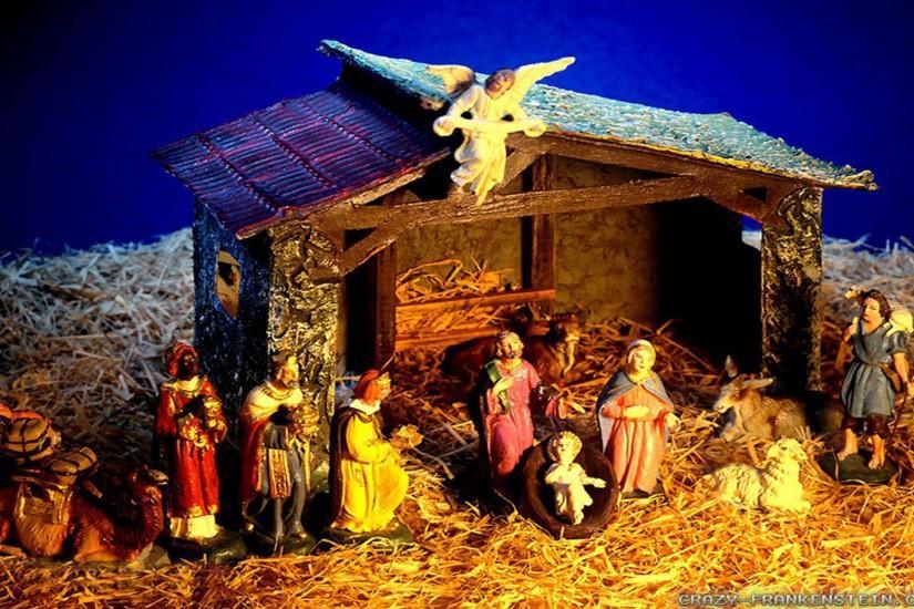 Christmas Nativity Scene wallpaper
