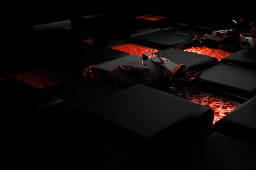 Preview wallpaper cube, fire, dark, light, alloy 1920x1080