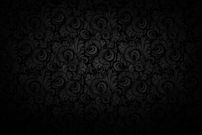 Wallpapers For > Black Gold Floral Background