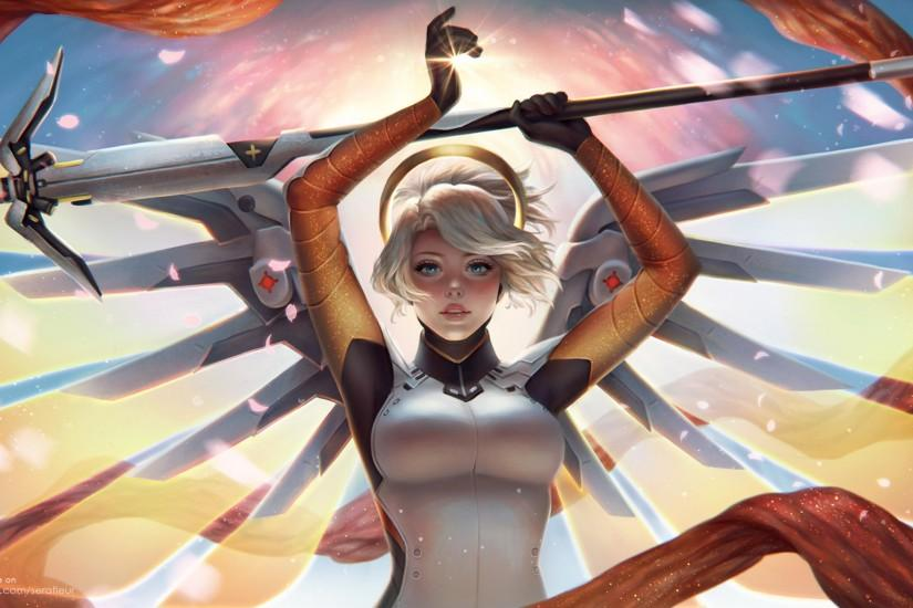 gorgerous mercy overwatch wallpaper 2560x1440 for meizu