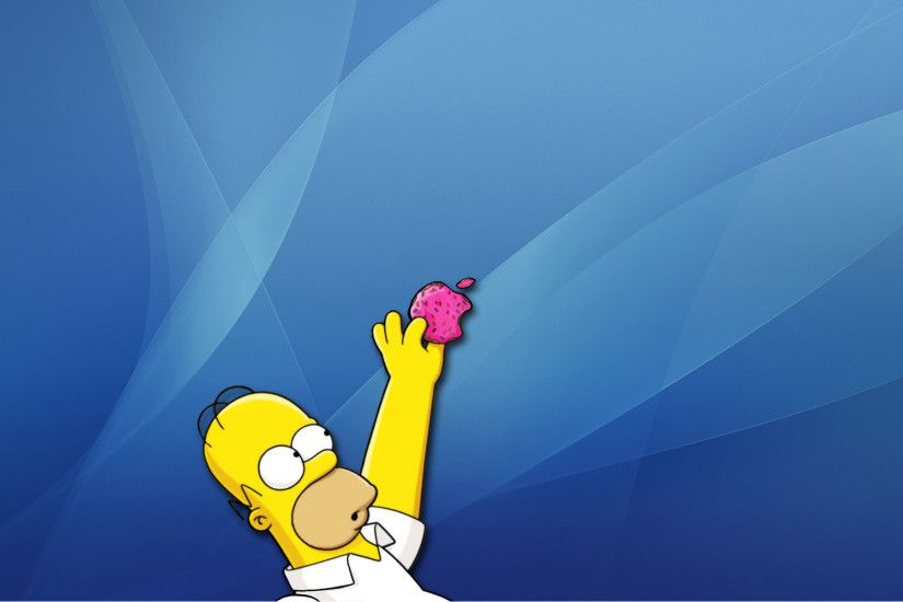 wallpaper Apple Inc. Mac · Homer Simpson