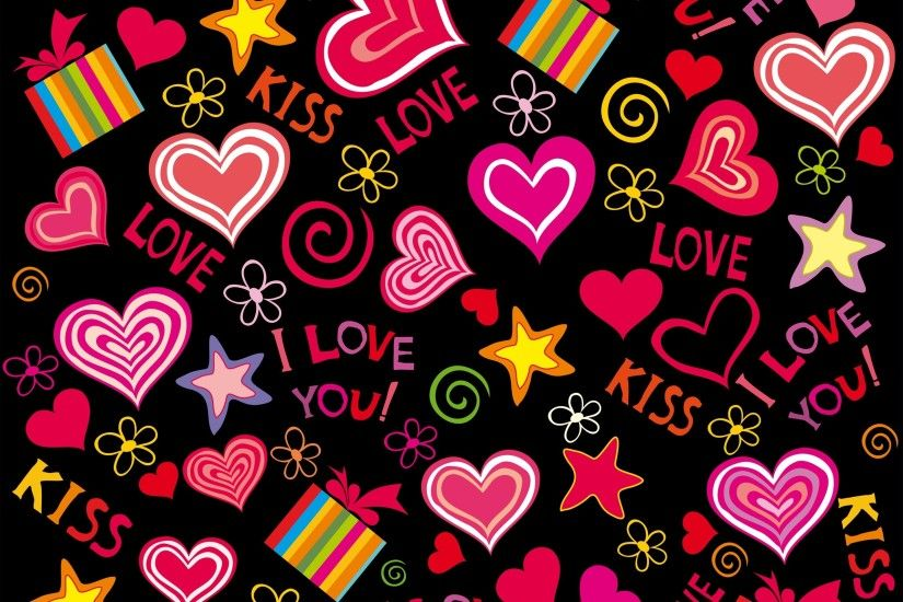 Love hearts, vector, romantic, Valentine day wallpaper thumb