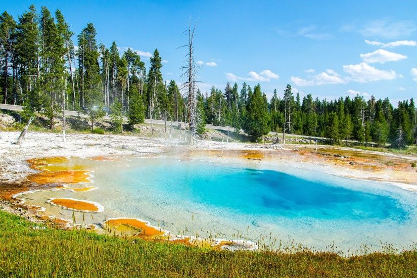 4K HD Wallpaper: Silew Pool in Yellowstone National Park