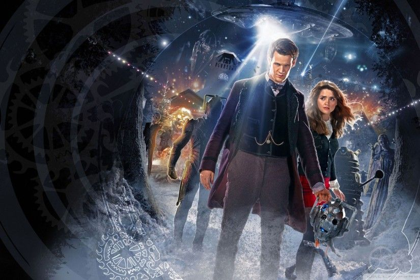 Download Wallpaper 2048x1152 Doctor who, Matt smith, Daleks HD HD .