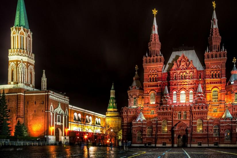 Preview wallpaper moscow, russia, red square, st nicholas tower, state  historical museum