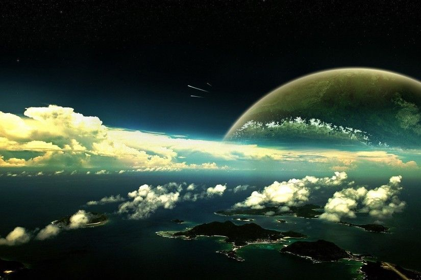 awesome space planet panorama HD backgrounds - desktop wallpapers