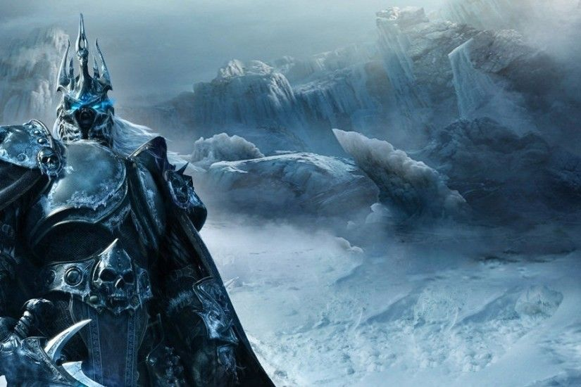 3840x1200 Wallpaper game, warrior, world of warcraft, wrath of the lich king