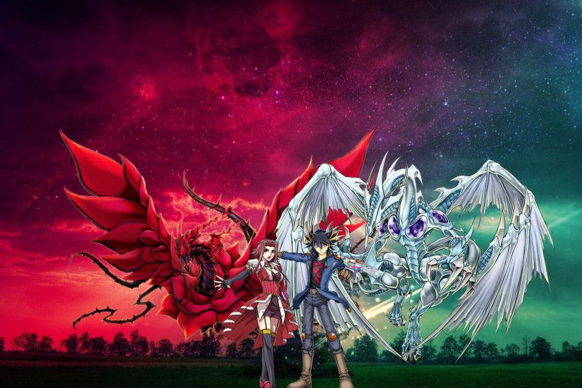 1920x1080 Faithshipping Stardust and Blackrose Dragon by alienskiller1  Faithshipping Stardust and Blackrose Dragon by alienskiller1