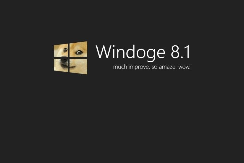 Doge Windows 8.1 Wallpaper - MixHD wallpapers