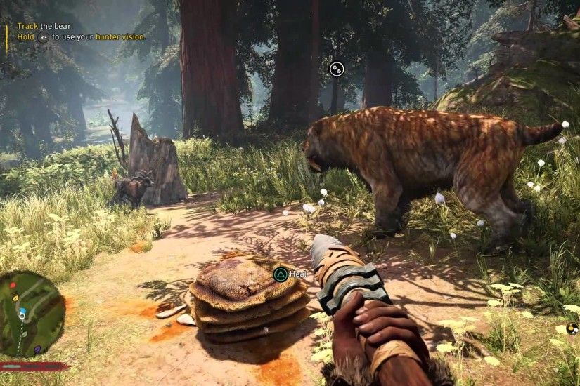 Far Cry Primal gameplay: Bear hunting with my saber tooth tiger 1080P -  YouTube